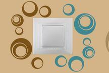 Geometrické tvary a abstrakce / kruhy a spirály / Samolepky jsou vhodné do jakéhokoliv interiéru, skvěle doplní moderní byt o nezvyklé abstraktní tvary.