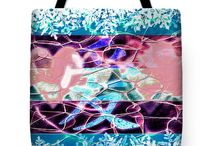 Cool Tote Bags / High quality, double stitched, machine washable polyester-poplin tote bags deigned by Lita Kelley.  All tote bags come with a 30 day money back guarantee and are shipped worldwide.,