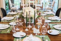Set The Table / Tablescapes and settings for both holiday and everyday gatherings.