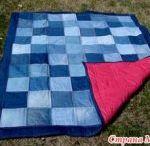 kottan ve kumaşlardan battaniye yapımı