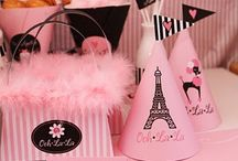 Paris themed birthday party