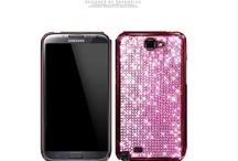Swarovskis  Samsung Galaxy note2 Case Eileen Lovely Swarovskis Case -Black color