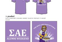 Alumni / Greek sorority and fraternity custom shirt designs featuring alumni themes. For more information on screen printing or to get a proof for your next shirt order, visit www.jcgapparel.com