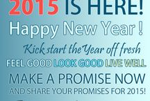 Happy 2015 New Year! / 2015 IS HERE! Happy New Year! Kick start the Year off fresh Feel Good, Look Good, Live Well Make a promise now and share your promises for 2015!  This year I'm going to ...