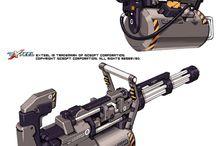 仮想を含む火器銃器、および刀剣類
