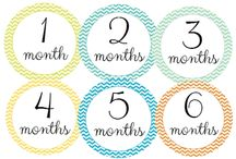 """Onesie® Labels / Onesie® Stickers are an adorable way to document your sweet baby throughout their first year of life. Just peel and stick on your child's onesie® or t-shirt and grab your camera for some fun! These are perfect baby shower gifts! Moms just love them!  Each set comes with 12 stickers measuring 3.3"""" in diameter. They are meant for single time use and are not washable."""