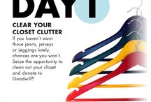 7 Days of Spring Cleaning / Clear the clutter one day at a time with Goodwill! Join us as we participate in the #7DaysOfSpringCleaning challenge!