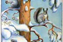 zvieratka v zime