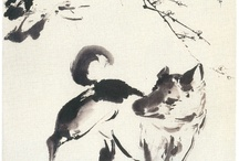 chinese painting dog