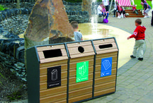 Green Spaces / Bins designed to blend into their outdoor surroundings.