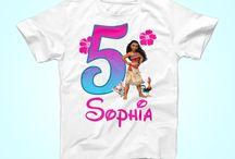 Moana Birthday Shirts