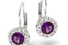 Amethyst Earrings / Shimmering with an inner violet light, the amethyst symbolises passion and is said to attract love. We have created our sumptuous range of amethyst earrings with this allure and desirability in mind…