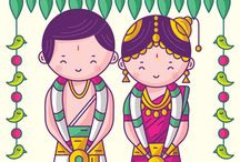 Indian character illustrations