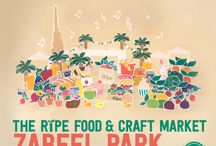 The Ripe Food & Craft Market @ Zabeel Park 2015-2016 / Located under the lush greenery of Zabeel Park, what better way to spend your Friday mornings than picking fresh, organic, local fruits and veggies from the Ripe Organic Stall at our distinctive alfresco shopping venue in the heart of Dubai!   And as usual, we're getting the whole community involved, with over 100 local passionate businesses including the best foodies, artisans, designers, jewellers, entertainers and musicians in town.   Join us every Friday at Zabeel Park between 9am-3pm.
