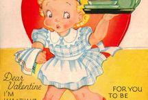 Vintage Valentine Cards / by Kellie Fortin