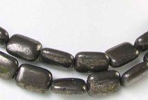 Stone Beads > Pyrite Beads / Natural Pyrite beads in a variety of shapes, sizes and styles.