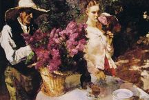 Lilacs in painting