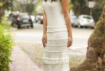 Вязаные юбки и платья