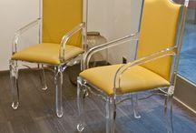 YELLOW! Acrylic interiors furniture / Acrylic furniture interiors and design. Color: YELLOW
