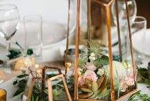 << Loft Winter Engagement Celebration >> - Cape Town / touches of rose gold, light botanicals and clear glass for a double volume loft apartment celebration