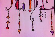 Inspiracion zentangle / Mis dibujos