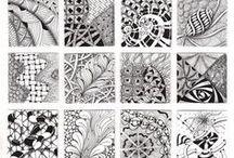 zantangle patterns and ideas