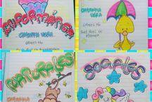 Carátulas para cuadernos