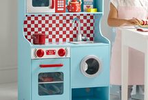 Red and blue toy kitchens and playfood / Our favourite role-play toys. Cuppatea anyone? / by Great Little Trading Co