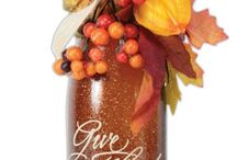 bottle decor autumn