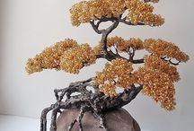 Beads bonsai/Бонсай из бисера. Деревья из бисера. / handmade