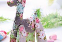 girafinha de tecido colorido