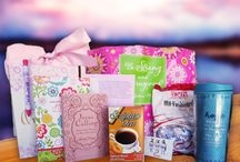 Compassion Bags & Shop / Compassion Bags are given as gifts to women battling cancer. They are filled with a notebook, Jesus Calling devotional, reusable mug, Scripture Tea, a blanket and more!