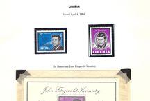 LIBERIA, MALI & MALTA Stamps JFK / John F. Kennedy stamps collection of Liberia, Mali & Malta.