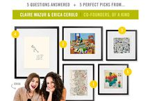 5+5 / 5 Questions Answered + 5 Perfect Art Picks from talented artists, entrepreneurs, celebrities and tastemakers.