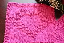 Carrés tricot