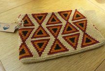 Wayuu ve penye ip örgü çanta