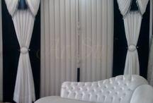 Aranżacje okienne / Aranżacje okienne do salonu i sypialni.