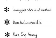 Dancing Infographics / Interesting information about dancing!