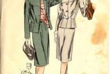 vintage clothing / I look at styles of clothing from earlier decades with a view to reworking them for my own wardrobe.