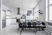 Szare ściany, żółte akcenty - nowoczesne mieszkanie / http://www.szczyptadesignu.pl/2016/04/szare-sciany-zote-akcenty-nowoczesne.html