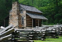 ♥ Log Cabins ♥  / by Donna Mann (FromWithinMyHeart)