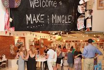 Events at The Makery / Make & Mingle / Not just an awesome art studio!   A fabulous Industrial Chic event space!