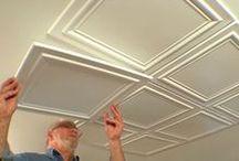 polystryrene foam ceiling and wall