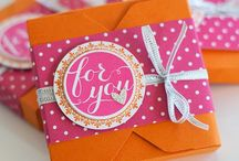 Gift box punch board stamping up