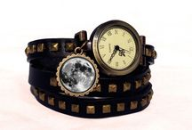 Watch leather bracelets / Handmade watch leather bracelets with charms. Any logo / art graphic can be applied. Custom orders are highly welcomed.