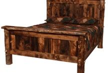 Reclaimed Wood Furniture / Visit www.LogCabinRustics.com for a huge selection of American-made handcrafted barnwood furniture and other reclaimed wood furniture