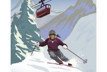 skiing week