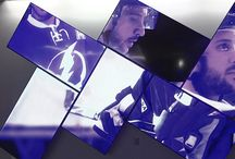 Tampa Bay Amalie Arena Video Wall / Artistic video walls by Userful enhance fan experience at  Tampa Bay's Amalie Arena.