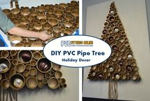 PVC Holiday Crafts / DIY Holiday Craft projects made from PVC materials.