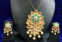 Bollywood Inspired Party Wear Pendant Necklace Set